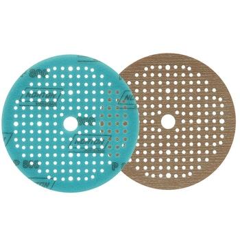 Disco de lixa espumado seco A275 grão 800 150mm c/ x furos - Norton - 63642560577 - Unitário
