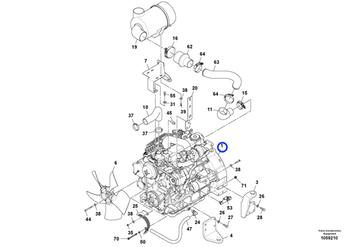 Filtro de Combustível - Volvo CE - 43977982 - Unitário