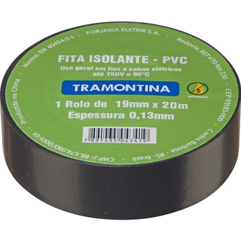 Fita Isolante Preta - 20M - Tramontina - 57540020 - Unitário