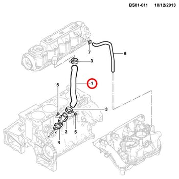 Mangueira do Respiro de Óleo - Original Chevrolet - 24579148 - Unitário