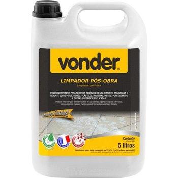Limpador Pós-Obra Biodegradável 5 Litros - Vonder - 51.84.100.500 - Unitário