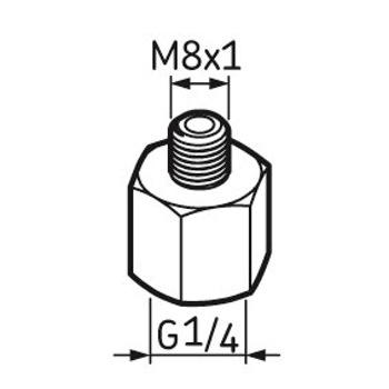 Pino graxeiro G1/4 – M8 x 1 - SKF - LAPN 8x1 - Unitário