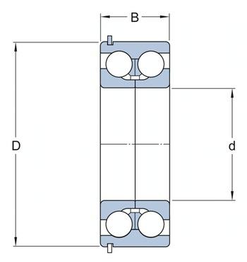 Rolamento de esferas de contato angular - SKF - 5410 A/C3 - Unitário