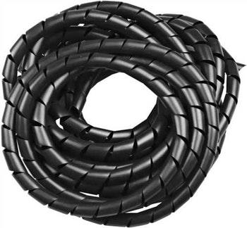 "Spiral Tube PVC 1"" Preto Largura 25,0mm para Diâmetro 23,0-120mm - HellermannTyton - 7733542 - Unitário"