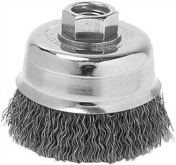 Escova Copo Aço Ondulado 100mm M14 Fio 0,50mm 10200Rpm - Weiler - 371 36 - Unitário