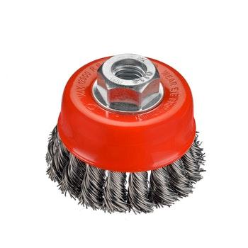 Escova Copo Trançada Aço Carbono Ø 65mm Osborn - Norton - 66261170650 - Unitário