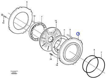 Pistão do Freio - Volvo CE - 11103332 - Unitário