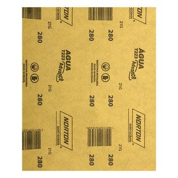 Folha de lixa água T223 grão 280 - Norton - 66261161504 - Unitário