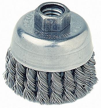 Escova Copo Aço Trançado 70mm M14 0,50mm 14000Rpm - Weiler - 13283 - Unitário