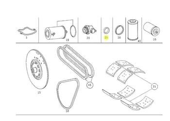 Retentor do Cubo de Roda - Original Mercedes-Benz - A3509977146 - Unitário