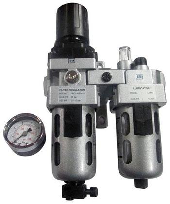 """Conjunto Lubrifil com Mini Manômetro e Dreno Manual 1/4"""" BSP - TMX - CL140 - Unitário"""