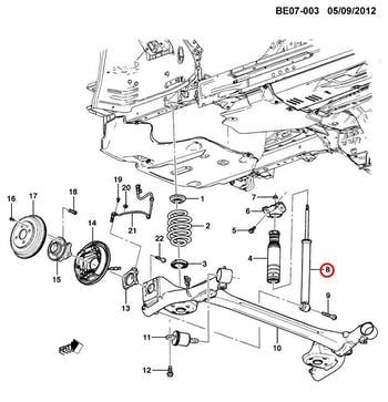 Amortecedor Traseiro - Original Chevrolet - 52052307 - Unitário