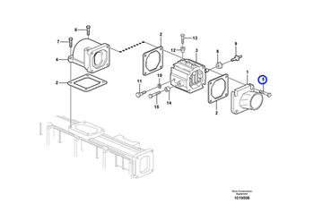 Parafuso Flangeado - Volvo CE - 993447 - Unitário