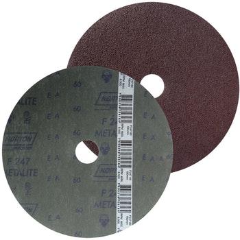 Disco de fibra metalite F224 grão 60 180x22mm - Norton - 66261037165 - Unitário