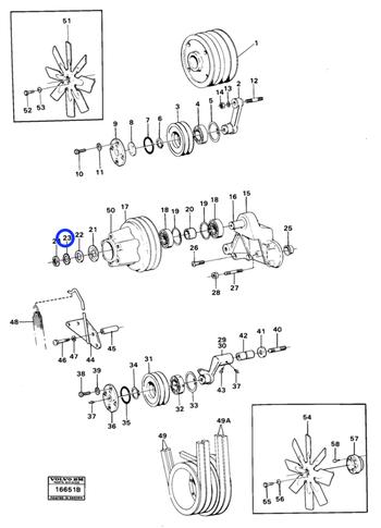 Arruela Trava - Volvo CE - 907024 - Unitário
