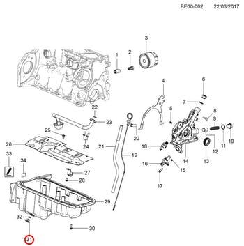 Bujão do Cárter - Original Chevrolet - 90502556 - Unitário