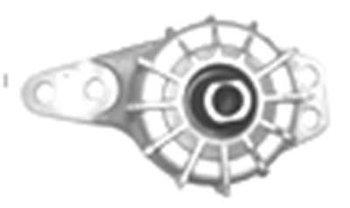Coxim Dianteiro do Motor - BORFLEX - 838 - Unitário