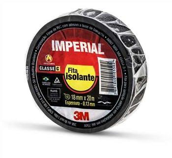 Fita Isolante Imperial Preta 18mm x 20m - 3M - HB004216360 - Unitário