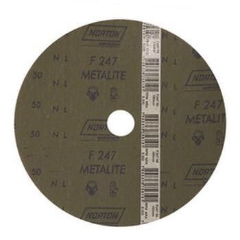 Disco de fibra metalite F224 grão 50 180x22mm - Norton - 66261040131 - Unitário