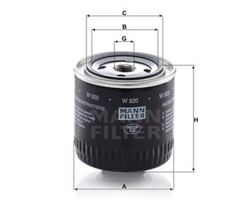 Filtro de Óleo da Transmissão Hidráulica - Mann-Filter - W920 - Unitário