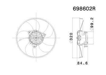 Eletroventilador - Valeo - 698602R - Unitário
