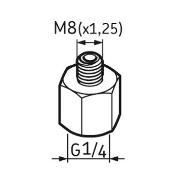 Pino graxeiro G1/4 – M8 - SKF - LAPN 8 - Unitário