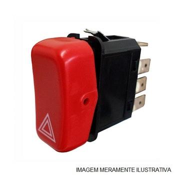 Interruptor de Luz de Emergência - Original Volkswagen - 2T200142-0 - Unitário