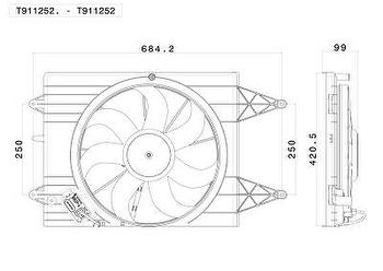 Eletroventilador - Valeo - T911252. - Unitário