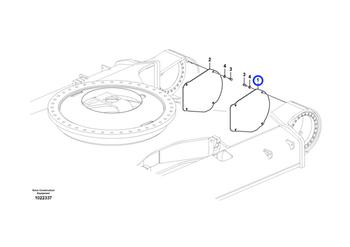 Placa de Proteção do Motor de Curso - Volvo CE - 14532267 - Unitário
