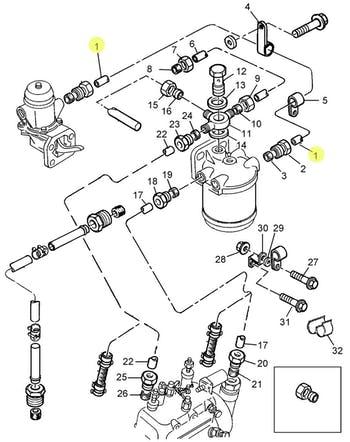 Tubo de Combustível de Baixa Pressão da Bomba Alimentadora - PERKINS - 4125T011 - Unitário