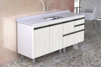 Gabinete para Cozinha Coliseu Madeirado com 2 Gavetas+Gavetão Palissandro Ártico 174,5cm - A.J.Rorato - 586531 - Unitário