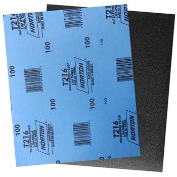 Folha de lixa água T216 grão 100 - Norton - 66623335724 - Unitário