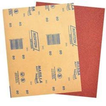 Folha de lixa massa A257 grão 80 - Norton - 05539503057 - Unitário