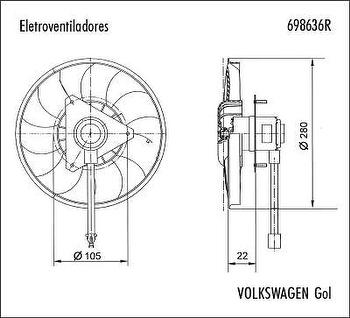 Eletroventilador - Valeo - 698636R - Unitário