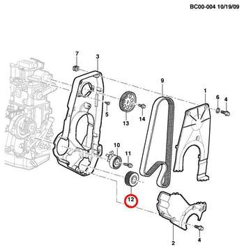Engrenagem do Motor - Original Chevrolet - 90502545 - Unitário