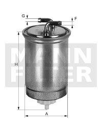 Filtro Blindado do Combustível - Mann-Filter - WK842/3 - Unitário