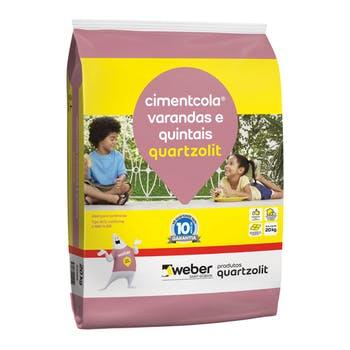 Argamassa Cimentcola para Varandas e Quintais 20Kg - Quartzolit - 0309.00001.0020PLS - Unitário