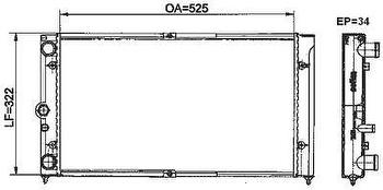 Radiador de Resfriamento - Valeo - 6TA091A - Unitário
