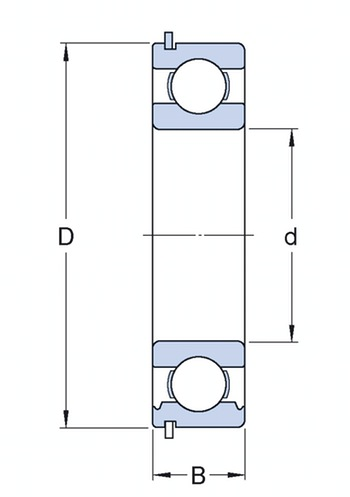 Rolamento Rígido de Esferas - SKF - 6206-ZNR - Unitário