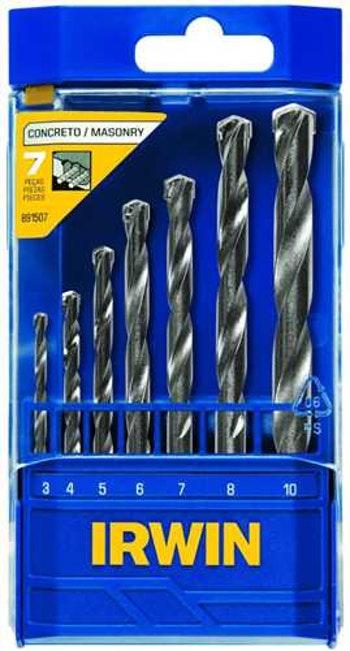Jogo de Broca Ponta de Metal Duro para Concreto 3,0 à 10,0mm 7 Peças - Irwin - 891507 - Unitário