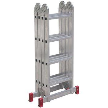 Escada Articulada Multifuncional 4 x 4 em Alumínio com 16 Degraus - Botafogo - ESC0293 - Unitário