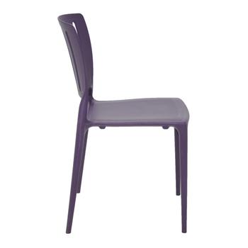 Cadeira Tramontina Sofia Lilás sem Braço Encosto Vazado Vertical em Polipropileno e Fibra de Vidro - Tramontina - 92035080 - Unitário