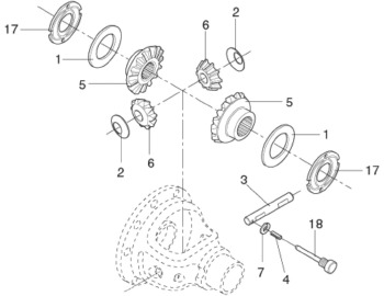Kit de Reparo da Caixa do Diferencial - Spicer - BA401179-X - Kit
