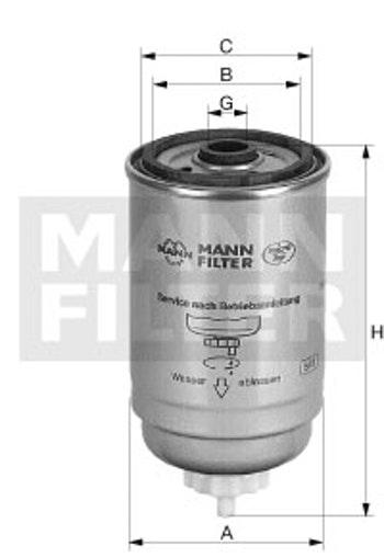 Filtro Blindado do Combustível - Mann-Filter - WK854/2 - Unitário