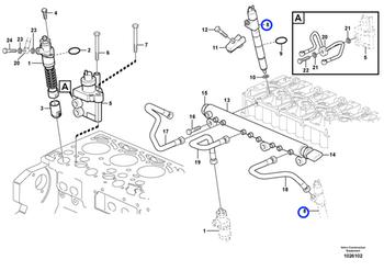 Bico Injetor REMAN - Volvo CE - 9020798114 - Unitário