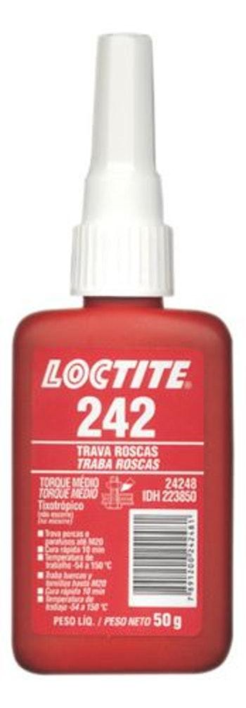 Adesivo Anaeróbico Trava Rosca 242 50g - Loctite - 223850 - Unitário