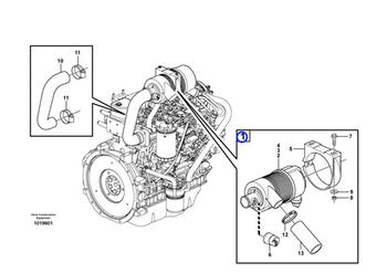 Filtro de Ar do Motor - Volvo CE - 11850265 - Unitário