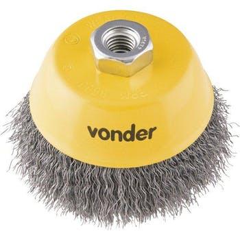 "Escova Circular Tipo Copo Ondulada 4"" - Vonder - 63.25.040.140 - Unitário"