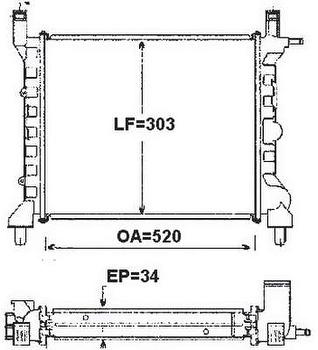 Radiador de Resfriamento - Valeo - 6AB009A - Unitário