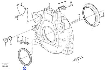 Anel de Vedação - Volvo CE - 1543896 - Unitário